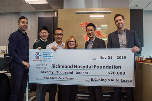 King's Auto Lease Gives Back to the Community by Donating to Richmond Hospital