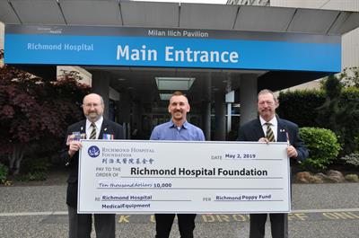 Richmond Poppy Fund Supports Local Health Care at Richmond Hospital
