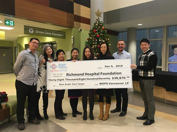 World Duty Free Raises Over $38,000 for Richmond Hospital's ACT NOW Campaign
