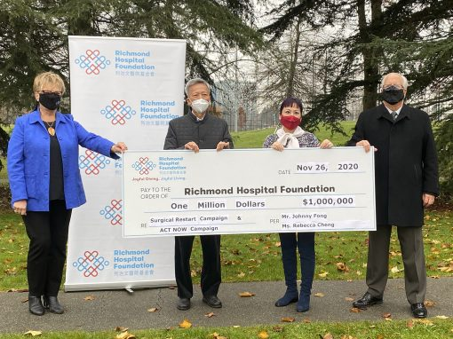 Mr. Johnny Fong And Ms. Rebecca Cheng Donate $1,000,000 To Richmond Hospital Foundation