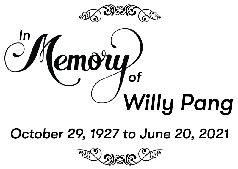 In memory of Willy Pang