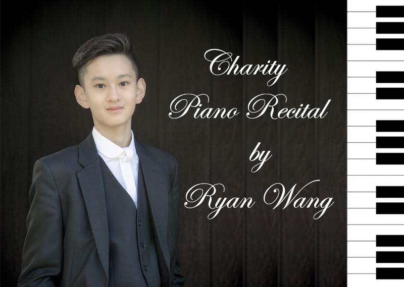Ryan Wang Piano Recital Charity Fundraiser