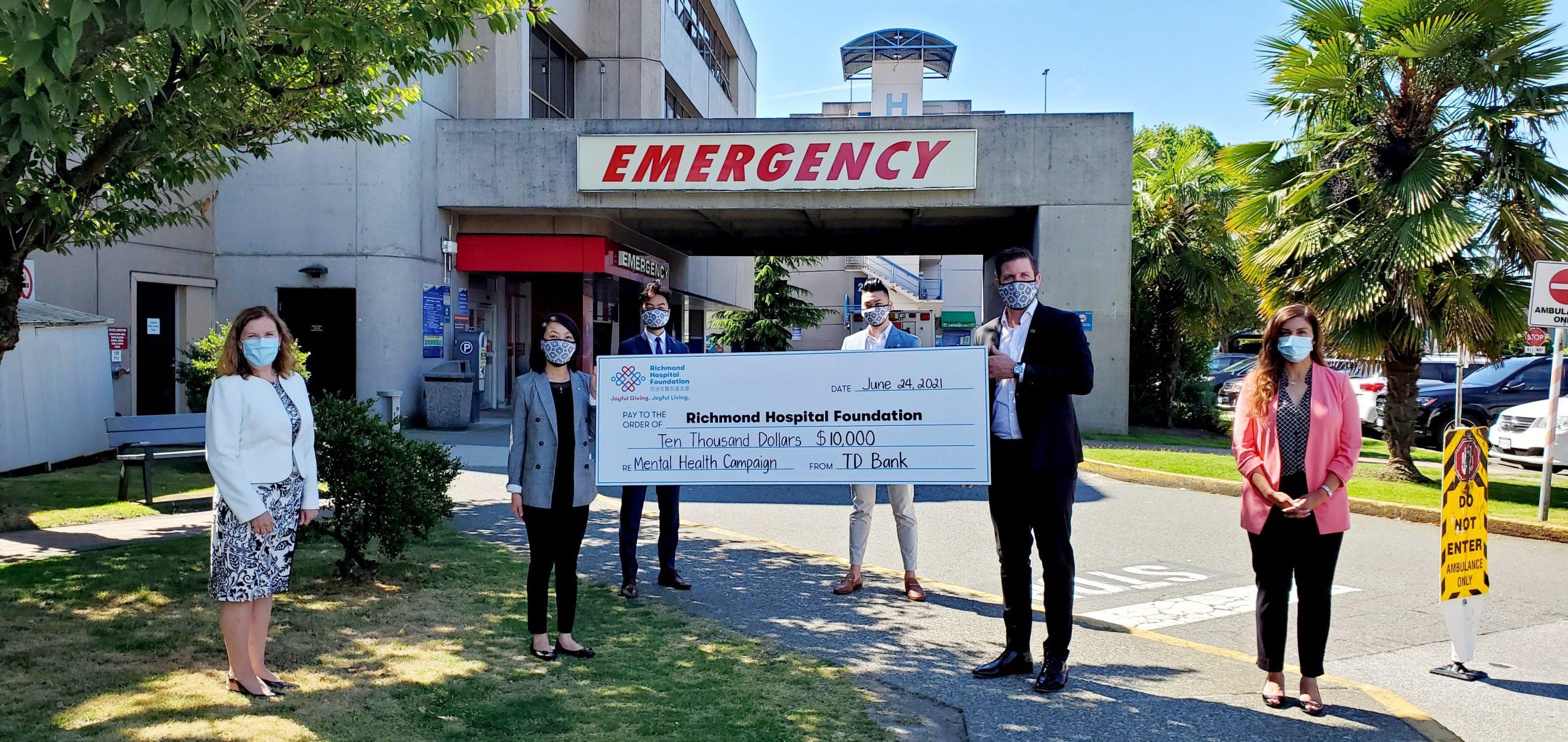道明銀行集團向列治文醫院基金會精神健康籌款行動捐款$10,000